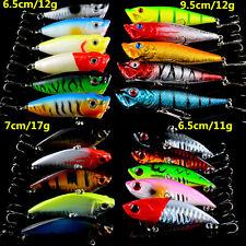 New 21pcs/Lot Set Mixed Popper/VIB Fishing Lures High Quality Fishing Tackle