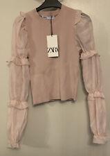 BNWT Zara Organza Knit Top Size M