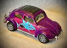 1998 Matchbox Volkswagen '62 VW Beetle - Piranha Design - Purple & Pink Diecast