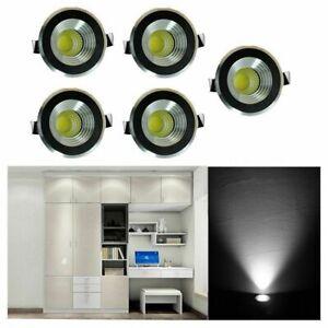 5x 3w LED Recessed Small Cabinet Mini Spot Lamp Ceiling Downlight Kit Fixture