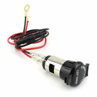 Female Cigarette Lighter Plug Socket Waterproof Motorcycle Charger Hot