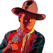 John Wayne A1+ from Cowboys and Indians by Andy Warhol High Quality Canvas Print