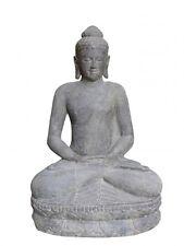XL Buddha 80 Cm Steinguss Gartendeko indischer Steinbuddha Meditation Statue