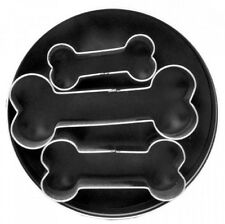 Fox Run Cookie Cutter Set, Dog Bone Shaped Mold, Set of 3, Buscuit, Treat, Snack