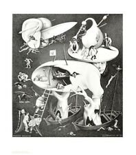 MC Escher Hölle Poster Kunstdruck Bild 65x55cm