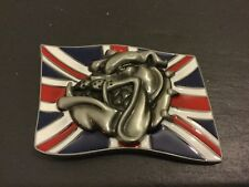 New English British Bulldog Logo Boucle de Ceinture Union Jack Bull Dog