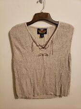Womens Harly Davidson Sleeveless Light Sweater Size Xl