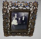 BEREBI+LIMITED+EDITION+ORNATE+PICTURE+FRAME+WITH+BLUE+CRYSTALS--STUNNING+NR%21