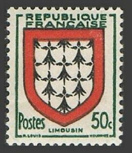 France 660 block/4,MNH.Michel 918. Arms of Limousin,1951.