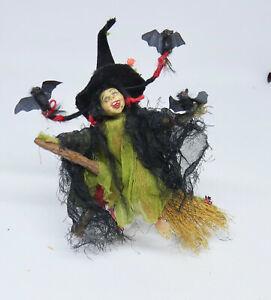 Dollhouse Miniature 1:12 - Helen Hartzell LITTLE FLYING WITCH GIRL - Rare OOAK