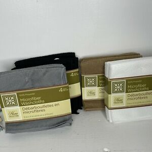 Home Collection 4 Lot Microfiber Washcloths 4 Pk EACH 16 Total 4 Colors