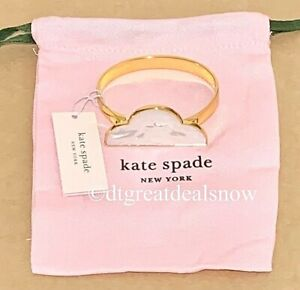NEW Kate Spade Into The Sky Cloud Cuff Bracelet White Mother of Pearl Shade