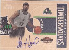 2010-11 Panini Threads Lazar Hayward Minnesota Timberwolves Autograph Auto Card