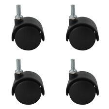 Hartbodenrollen 4er Set schwarz aus Kunststoff ø 40mm Möbelrollen Gewindestift
