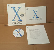 MAC OS X 10.1 original upgrade CD - disc with user guide and sleeve