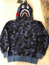 0d27a44a79ba Bape camo shark hoodie Blue US Medium