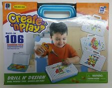 Drill & Design Built in game toy kids assembled parts creative  gift tool kit