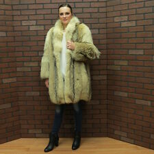 SALE!! QUALITY - CANADIAN COYOTE FUR COAT! clean pristine MD free ship usa
