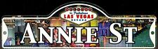 ANNIE ST - Welcome To Fabulous Las Vegas Street Sign (Laminated Plastic)