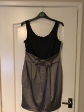 Next Party Dress Sz 12 Black And Taupe Colour Occasion Party Xmas New Year