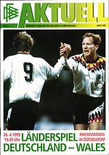 EM-Qualifikation 26.04.1995 Deutschland - Wales in Düsseldorf