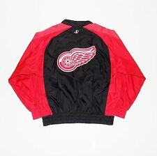 Vintage NHL Detroit Red Wings Mens Black Red Logo Athletic Jacket Size Large