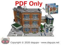 Lego Custom Modular Instructions-Only HOSPITAL Corner Garage 10264