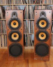 Vintage Bowers Wilkins B&W DM 3000 LARGE Floor standing Speakers glass top