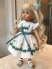 """Gorgeous 10"""" Doll Boneka Dianna Effner Tuesday's Child Dress Highly Embroidered"""