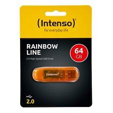 Intenso USB Stick Rainbow Line 64GB OVP 2.0 Speicherstick 64 GB orange