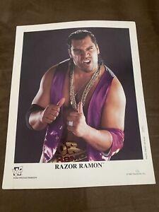 """Razor Ramon Promo 8x10 Photo p-376 """"Fake"""" Razor Wwf"""