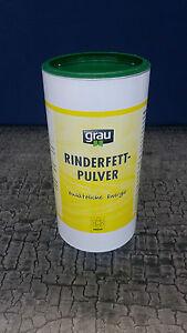 Grau Rinderfett Pulver 400 g / Energie Appetitanregend / Rinderfettpulver