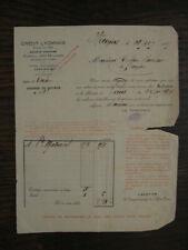 ancien avis d'exécution d'ordre de bourse 1927 Matracal crédit Lyonnais Vouziers