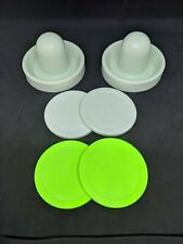 Air Hockey Mallets / pushers (Dynamo) with 4 Large Pucks 2 each standard / quiet