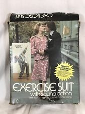 Vtg 1980s Exercise Suit with Sauna Action Aerobic Men Women Weight Loss Silver