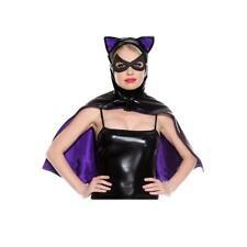 Black Bat Cape Purple Super Hero