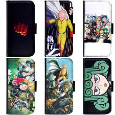 PIN-1 Anime One-Punch Man Phone Wallet Flip Case Cover for Samsung S Note Series