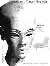 Erwin Lambeth Fine Furniture MID-CENTURY MODERN Sculptured Mystery 1957 PRINT AD