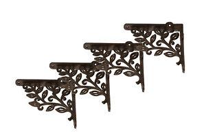 4x Gusseisen Regalhalter Wand Winkel Regalträger Halterung Konsole Antik 15cm