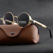 806c392036 New Vintage Polarized Punk Sunglasses Fashion Cool Retro Round Mirrored  Glasses
