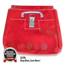 Red Sand Bags 10 pk For Bounce House Inflatable Durable 18oz Vinyl Weight Anchor