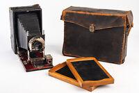 Gundlach Korona Petit 3 1/4 x 5 1/2 Camera with Film Holders RARE IN CASE V10