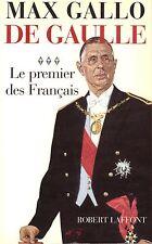 MAX GALLO DE GAULLE, LE PREMIER DES FRANCAIS + PARIS POSTER GUIDE