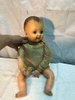Vintage 1950s Hard Rubber Doll Open Shut Eyes 21in Tall 6 R STAMP