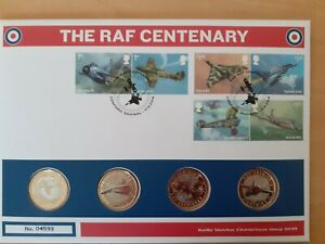 RAF STAMP AND COIN COVER  2018 FDC FIRST DAY COVER