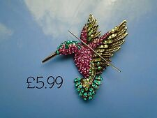 NEW!!!!! Jewelled Hummingbird Needle Minder Cross Stitch Neodymium Gift Packaged