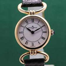 BAUME & MERCIER MOVILE LUGS 18K SOLID GOLD MANUAL WIND LADIES WATCH ORIG BOX