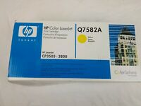 GENUINE HP 503A Q7582A Yellow Toner Cartridge LaserJet CP3505 3800 NEW OEM