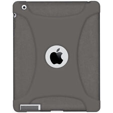 AMZER SOFT SILICONE SKIN JELLY CASE COVER FIT FOR APPLE iPAD 2 - GREY