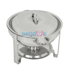 1 Pack Full Size 5 Qt. Stainless Steel Chafing Dishes with Durable Frames